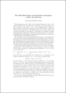 The Skorokhod Space in functional convergence: a short introduction