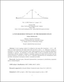 A non-Skorokhod topology on the Skorokhod space