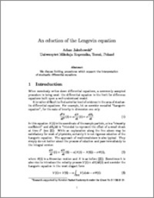 An eduction of the Langevin equation