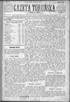 Gazeta Toruńska 1886, R. 20 nr 1