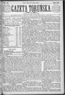 Gazeta Toruńska 1886, R. 20 nr 47