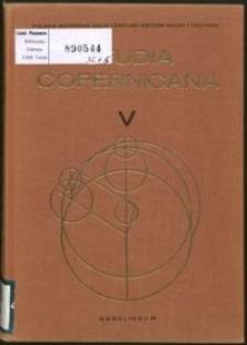 Colloquia Copernicana. 1, Études sur l'audience de la théorie héliocentrique : Conférences du Symposium de l'UIHPS, Toruń 1973