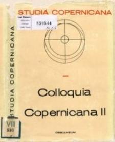 Colloquia Copernicana. 2, Études sur l'audience de la théorie héliocentrique : Conférences du Symposium de l'UIHPS, Toruń 1973