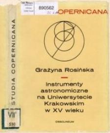 Instrumenty astronomiczne na Uniwersytecie Krakowskim w XV wieku