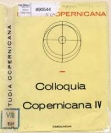 Colloquia Copernicana 4, Conférences des Symposia : l'audience de la théorie héliocentrique : Copernic et le développement des sciences exactes et sciences humaines, Toruń 1973