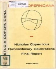 Nicholas Copernicus : quincentenary celebrations final report