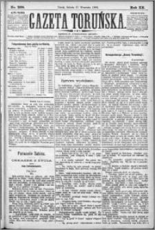 Gazeta Toruńska 1886, R. 20 nr 208