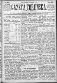 Gazeta Toruńska 1886, R. 20 nr 274