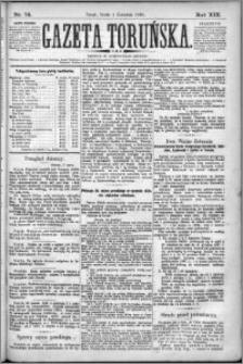 Gazeta Toruńska 1885, R. 19 nr 74