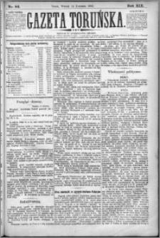 Gazeta Toruńska 1885, R. 19 nr 84