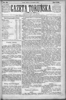 Gazeta Toruńska 1885, R. 19 nr 85
