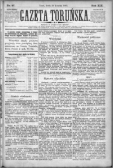 Gazeta Toruńska 1885, R. 19 nr 97