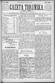 Gazeta Toruńska 1885, R. 19 nr 204