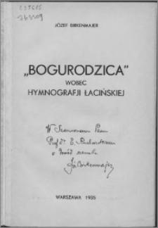 """""""Bogurodzica"""" wobec hymnografii łacińskiej"""
