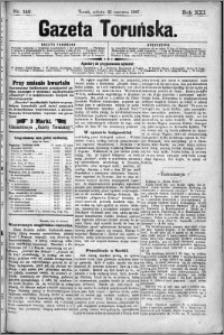 Gazeta Toruńska 1887, R. 21 nr 142