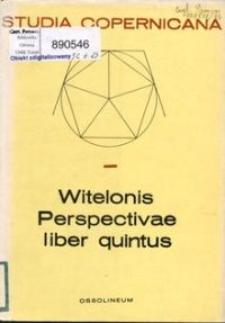 Book V of Witelo's Perspectiva