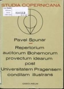 Repertorium auctorum Bohemorum provectum idearum post Universitatem Pragensem conditam illustrans T. 1