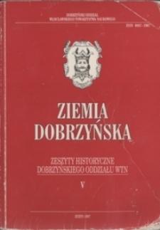 Ziemia Dobrzyńska : Zeszyty Historyczne Dobrzyńskiego Oddziału WTN, V : Dekanat Rypiński : Z archiwaliów diecezjalnych płockich XIX wieku
