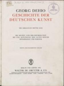 Die Neuzeit von der Reformation bis zur Auflösung des alten Reichs, Renaissance und Barock