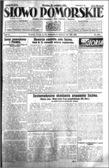 Słowo Pomorskie 1931.10.25 R.11 nr 247