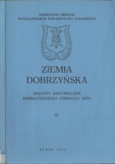 Ziemia Dobrzyńska : Zeszyty Historyczne Dobrzyńskiego Oddziału WTN, II