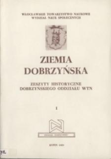 Ziemia Dobrzyńska : Zeszyty Historyczne Dobrzyńskiego Oddziału WTN, I