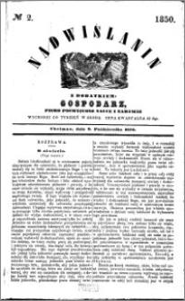 Nadwiślanin, 1850.10.09 R. 1 nr 2
