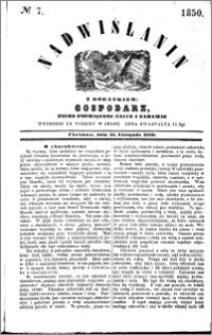 Nadwiślanin, 1850.11.13 R. 1 nr 7