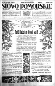 Słowo Pomorskie 1931.12.25 R.11 nr 298
