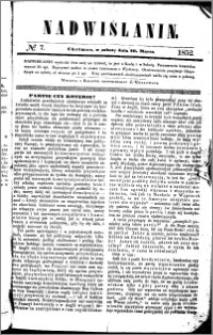 Nadwiślanin, 1852.03.20 R. 3 nr 7