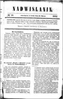 Nadwiślanin, 1852.03.31 R. 3 nr 10