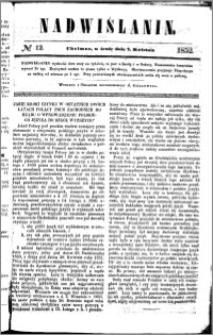 Nadwiślanin, 1852.04.07 R. 3 nr 12