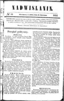 Nadwiślanin, 1852.04.17 R. 3 nr 14