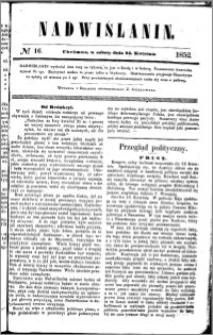Nadwiślanin, 1852.04.24 R. 3 nr 16