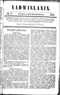 Nadwiślanin, 1852.04.28 R. 3 nr 17
