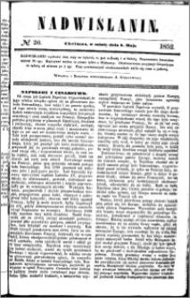 Nadwiślanin, 1852.05.08 R. 3 nr 20