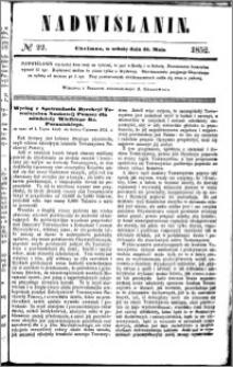 Nadwiślanin, 1852.05.15 R. 3 nr 22