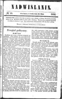 Nadwiślanin, 1852.05.19 R. 3 nr 23