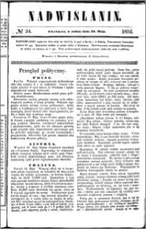 Nadwiślanin, 1852.05.22 R. 3 nr 24
