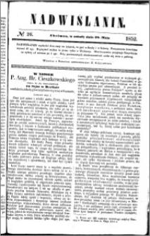 Nadwiślanin, 1852.05.29 R. 3 nr 26
