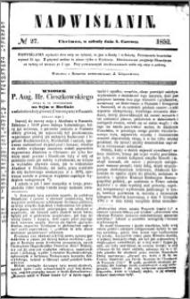 Nadwiślanin, 1852.06.05 R. 3 nr 27