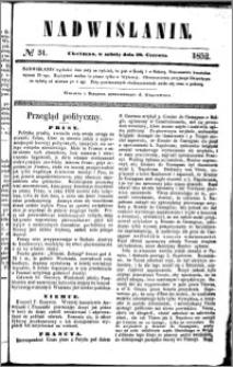 Nadwiślanin, 1852.06.19 R. 3 nr 31