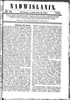 Nadwiślanin, 1852.07.21 R. 3 nr 40