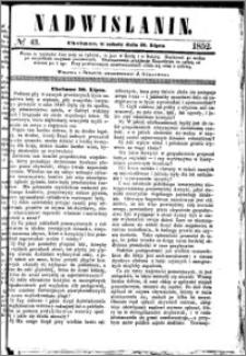 Nadwiślanin, 1852.07.31 R. 3 nr 43