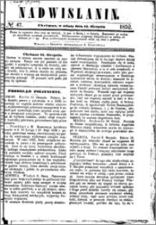 Nadwiślanin, 1852.08.14 R. 3 nr 47