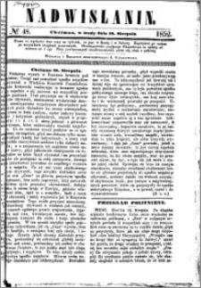 Nadwiślanin, 1852.08.18 R. 3 nr 48