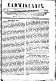 Nadwiślanin, 1852.08.21 R. 3 nr 49
