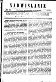Nadwiślanin, 1852.09.29 R. 3 nr 60