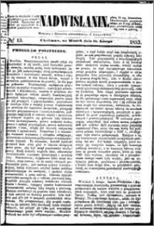 Nadwiślanin, 1853.02.15 R. 4 nr 13
