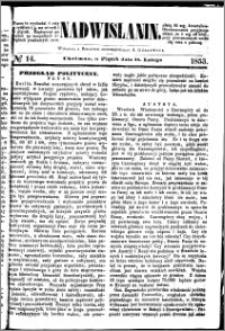 Nadwiślanin, 1853.02.18 R. 4 nr 14
